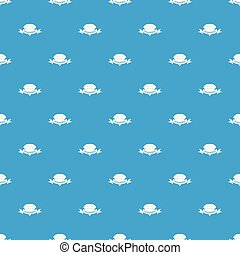 Diamond pattern vector seamless blue