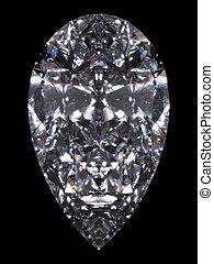 Diamond pear cut - Diamond series; isolated 3d jewellery...