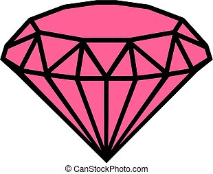 Diamond pink icon