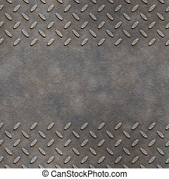 great image of diamond or checker plate with copy space