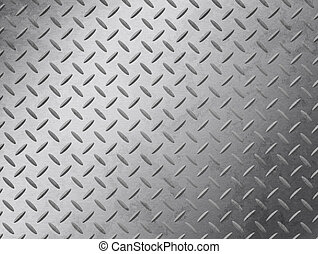 Diamond Plate Grunge - Image of a grungy diamond plate...