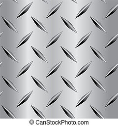A seamless repeating diamond plate pattern.
