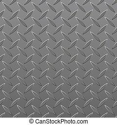 Diamond Plated Seamless metal sheet. Vector