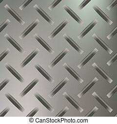 Diamond Plated Seamless metal sheet. Vector illustration
