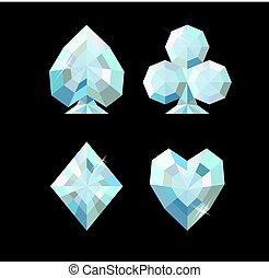 Diamond poker background, vector illustration