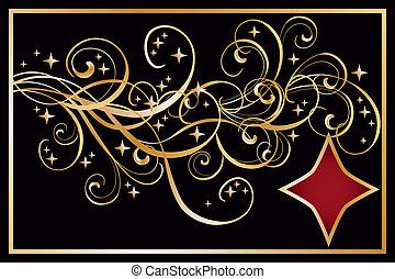 Diamond poker banner, vector illustration