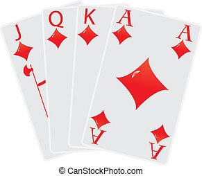 diamond poker cards