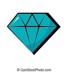 diamond pop art flat style vector illustration design