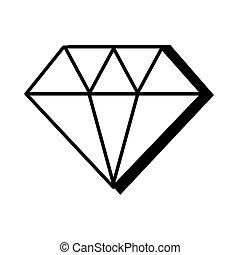 diamond pop art line style vector illustration design