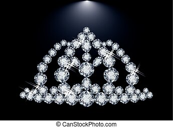 Diamond princess diadem, vector
