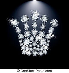 Diamond Queen crown, vector