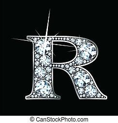 "Diamond ""R"" Vector - A stunningly beautiful ""R"" set in..."