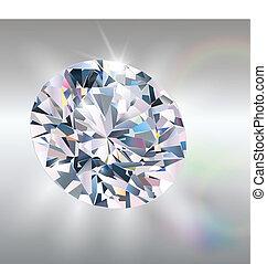 Diamond, realistic vector illustration.
