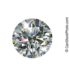 Diamond, realistic vector illustration.