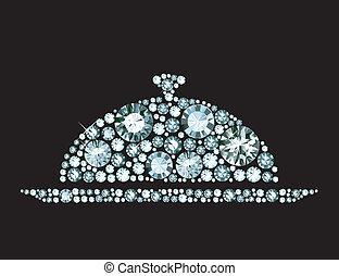 Diamond Restaurant Cloche - Restaurant cloche with lid made...