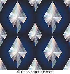 Diamond rhombus seamless background, vector illustration