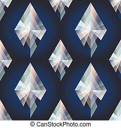 Diamond rhombus seamless background, vector illustration