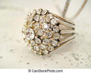 ring - diamond ring closeup