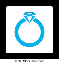 Diamond Ring Icon from Commerce Buttons Over Color Set