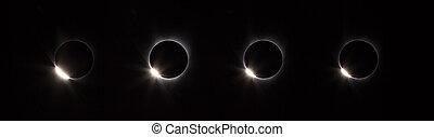 Diamond ring phase of solar eclipse