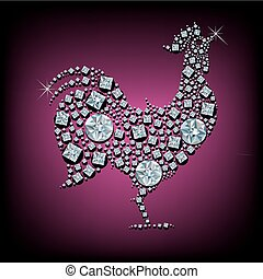 Diamond rooster