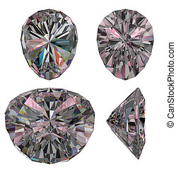 Diamond ruby cut isolated