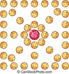 Diamond & ruby square decor