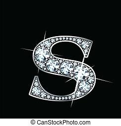 """Diamond """"S"""" Vector - A stunningly beautiful """"S"""" set in..."""