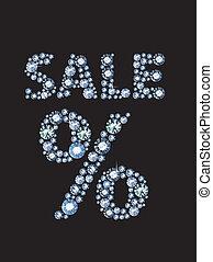 Diamond Sale - Sale sign made of diamonds
