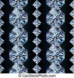 Diamond seamless banners, vector illustration