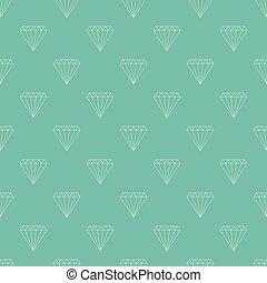 Diamond seamless pattern - Simple seamless pattern. Vector...