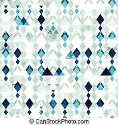 Diamond seamless pattern. Grunge effect