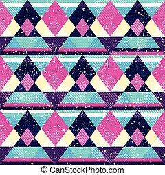 Diamond seamless pattern with grunge effect