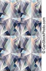 Diamond seamless rhombus background, vector illustration