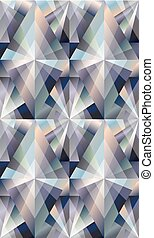 Diamond seamless rhombus background, vector illustration