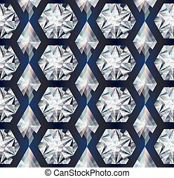 Diamond seamless texture background, vector