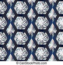 Diamond seamless texture background, vector