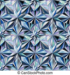 Diamond seamless texture background, vector illustration