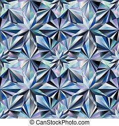 Diamond seamless texture background, vector illustration