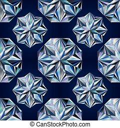 Diamond seamless texture, vector illustration