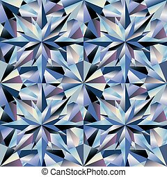 Diamond seamless wallpaper, vector illustration