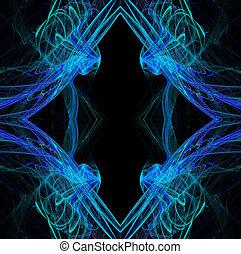 Diamond Shaped Continuous Fractal