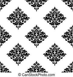 Diamond shaped seamless arabesque pattern with a repeat...