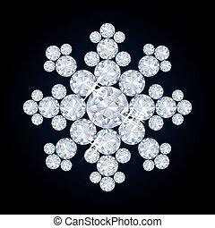 Diamond snowflake background