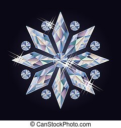 Diamond snowflake, vector