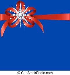 Diamond snowflake with bow