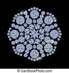 Diamond snowflake xmas background,