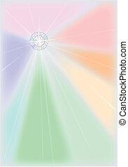 Diamond Starburst - A bright diamond reflecting a rainbow of...