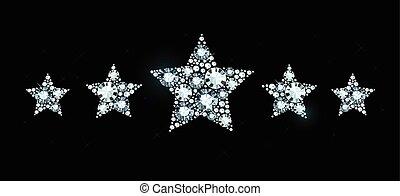 Diamond stars - Stars made of shiny diamonds