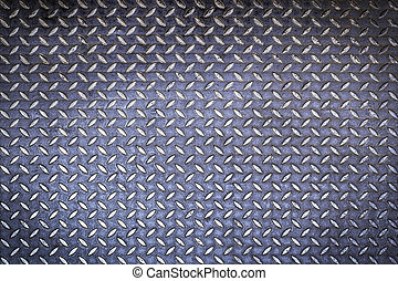 Diamond steel plate background